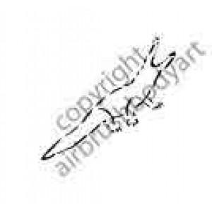 0291 crocodile reusable stencil